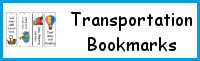 Transportation Themed Bookmarks