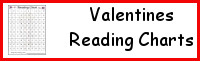 Valentines Themed Reading Charts