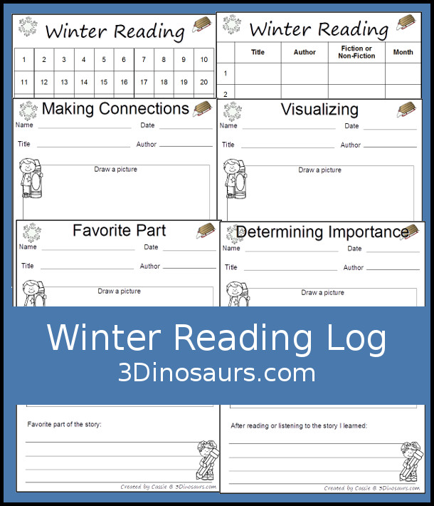 Winter Reading Charts