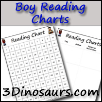 Boy Theme Reading Charts