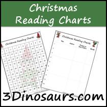 Free Christmas Themed Reading Charts - 3Dinosaurs.com