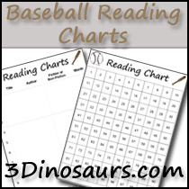 Baseball Theme Reading Charts