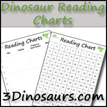 Dinosaur Theme Reading Charts