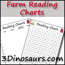 Farm Theme Reading Charts