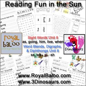 Reading Fun in the Sun Unit 8
