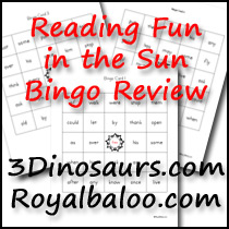 Reading Fun in the Sun Sight Word Bingo
