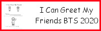 I Can Greet My Friends Easy Reader Book BTS 2020