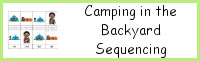 Sequencing Mini: Camping in the Backyard Printables
