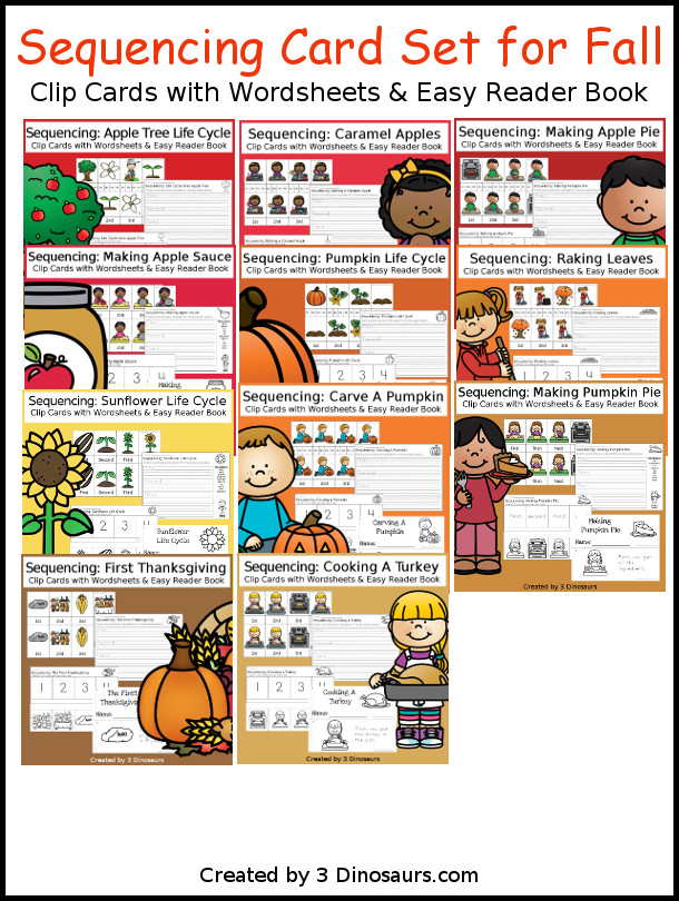 Sequencing Cards Set For Fall 6 Different Sets With Clip Task: 3 Sequencing Worksheets At Alzheimers-prions.com
