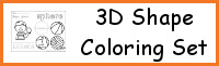 3D Shape Coloring Pages Set