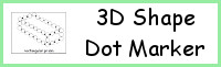 3D Shape Dot Marker Printables