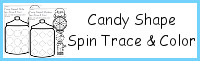 Candy Shape Spin, Trace & Color
