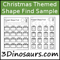 Christmas Shape Find Sample