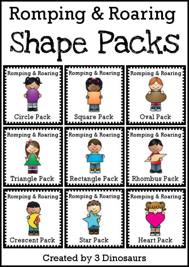 Romping & Roaring Shape Packs - 3Dinosaurs.com