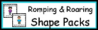 Romping & Roaring Shape Packs