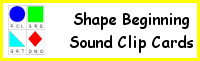 Shape Beginning Sound Clip Cards