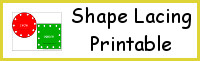Shape Lacing Printable