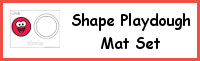 Shape Playdough Mat Set