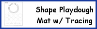 Shape Playdough Mats With Tracing