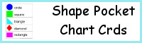 Shape Pocket Chart Cards