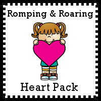 Free Romping & Roaring Heart Pack - 10 pages of activities - 3Dinosaurs.com