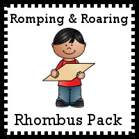 Free Romping & Roaring Rhombus Pack - 10 pages of activities - 3Dinosaurs.com