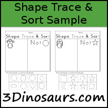 Shape Trace & Sort Sample