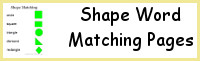 Shape Word Matching Pages