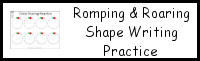 Romping & Roaring Shape Writing Practice