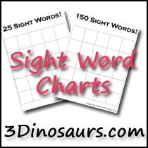 Sight Word Charts