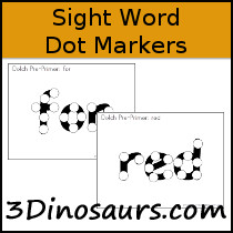Sight Word Dot Marker