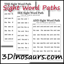 Sight Word Paths