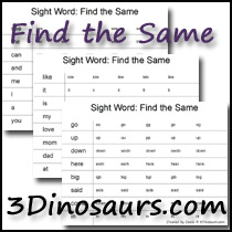 Writing  writing Free printable Sight sight Printables word Word