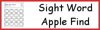 Sight Word Apple Find