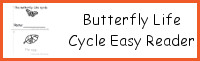 Butterfly Life Cycle Easy Reader Books