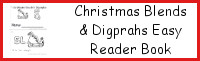Christmas Blends & Digprahs Easy Reader Book