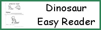 Dinosaur Easy Reader Book: What Do I Eat?