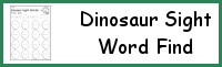 Dinosaur Sight Word Find