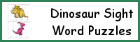 Dinosaur Sight Word Puzzle