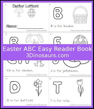 Easter Theme ABC Easy Reader Book - 3Dinosaurs.com
