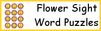 Flower Sight Word Puzzles
