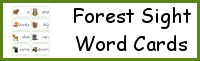 Forest Theme Sight Words Cards