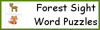 Forest Sight Word Puzzles