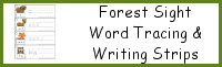 Forest Sight Words Writing & Tracing Strips