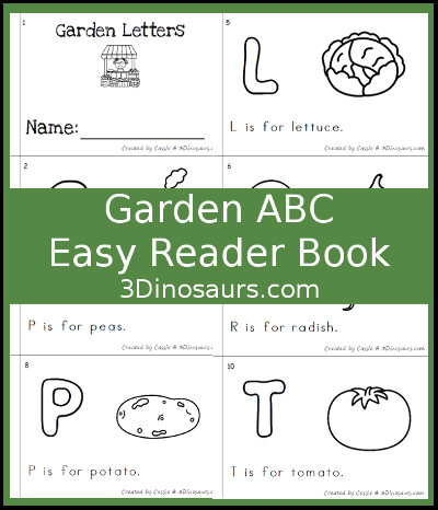 Garden Theme ABC Easy Reader Book - 3Dinosaurs.com