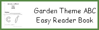 Garden Theme ABC Easy Reader Book
