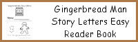 Gingerbread Man Themed ABC Easy Reader Book