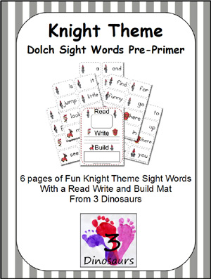 Knight Themed Dolch Preprimer