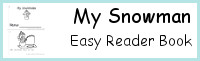 My Snowman Easy Reader Book