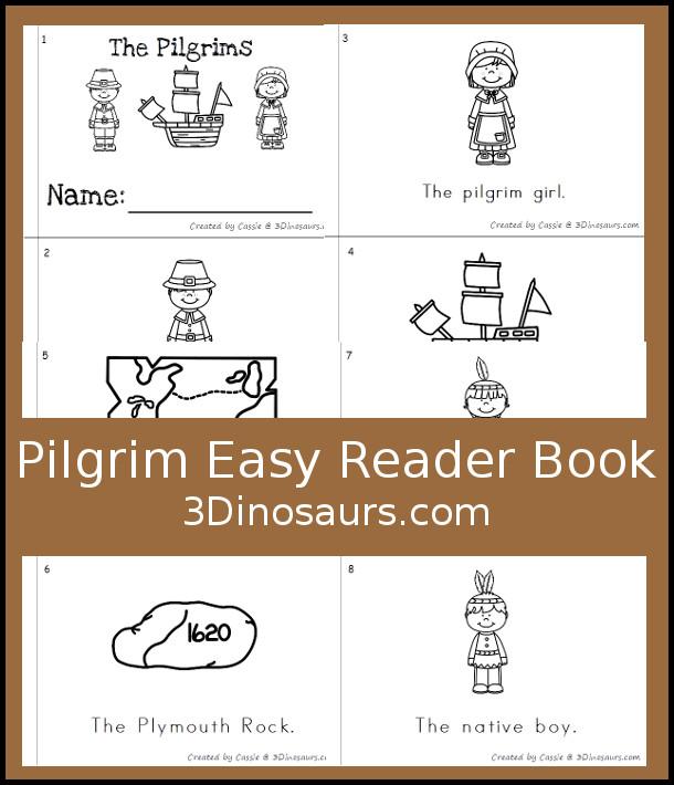 Free Pilgrim Easy Reader Book - 3Dinosaurs.com